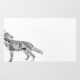 Zentangle Wolf Rug