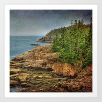 maine Art Prints featuring Maine by Kadwell Enz