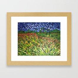"""""""Fields of Red"""" Framed Art Print"""