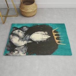 Naturally Queen I TEAL Rug