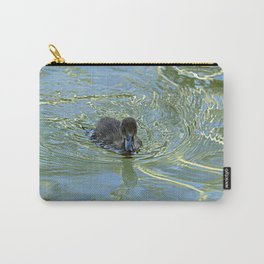 Little Black Duckling Swimming Carry-All Pouch