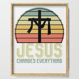 Jesus Changes Everything Serving Tray