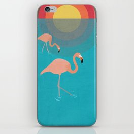 Flamingos iPhone Skin
