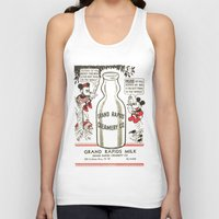 minnie mouse Tank Tops featuring Old school mickey mouse / minnie Mouse / milk by tshirtsz