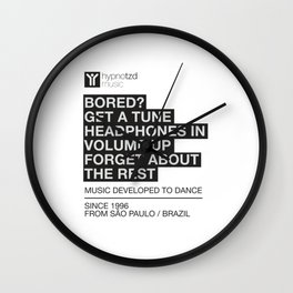 Music quote Wall Clock