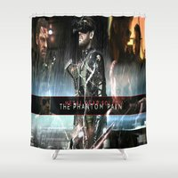 metal gear solid Shower Curtains featuring metal gear solid V  , metal gear solid V  games, metal gear solid V  blanket, by Eirarose