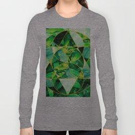 Hawaiian Jungle Abstract Mosaic Long Sleeve T-shirt