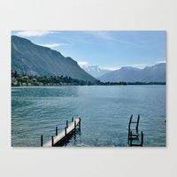 switzerland Canvas Prints featuring Switzerland by vince_dominguez