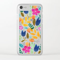 Flower Mayhem Clear iPhone Case