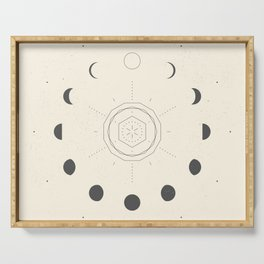 Moon Phases Light Serving Tray