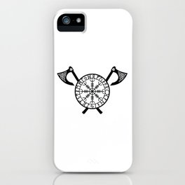 Norse Axe - Helm of Awe iPhone Case