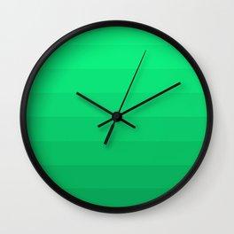 Seafoam Ombre Wall Clock