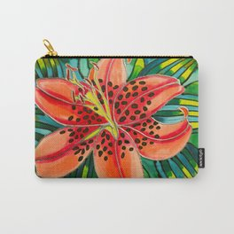 Pink Lily in Belize Carry-All Pouch