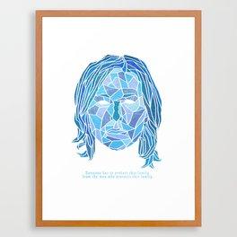 Crystallized Morality - Skyler White Framed Art Print