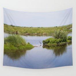 Peaceful Simplicity - Heron Bird in Bayou Wall Tapestry