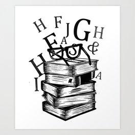 Book lovers reading t-shirt teachers librarians Art Print