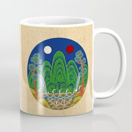 Minhwa: Sun, Moon and 5 Peaks: King's painting C_1 Type Coffee Mug