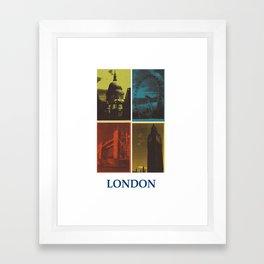 London monuments white border #1 Framed Art Print