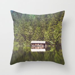 Cottage in the Forest (Color) Throw Pillow