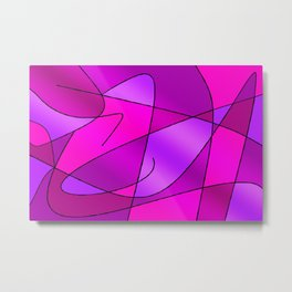 ABSTRACT CURVES #2 (Purples, Violets, Fuchsias & Magentas) Metal Print