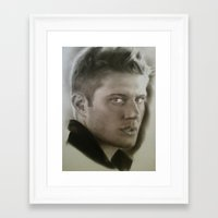 dean winchester Framed Art Prints featuring Dean Winchester by David Nash