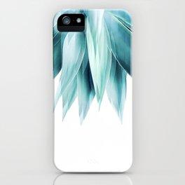 Agave geo fringe - teal iPhone Case
