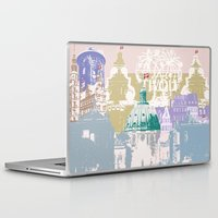 copenhagen Laptop & iPad Skins featuring Copenhagen Collage by Tokyo Rose