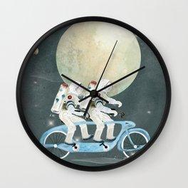 space tandem Wall Clock