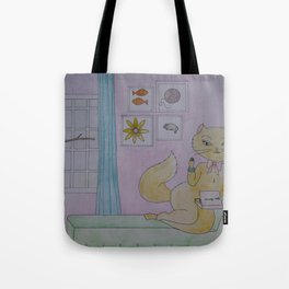 Fresh Cat Tote Bag