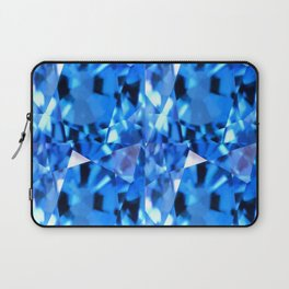 FACETED LONDON BLUE TOPAZ GEMSTONES Laptop Sleeve
