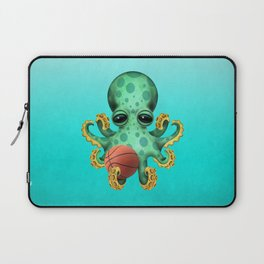 Cute Baby Octopus Playing With Basketball Laptop Sleeve