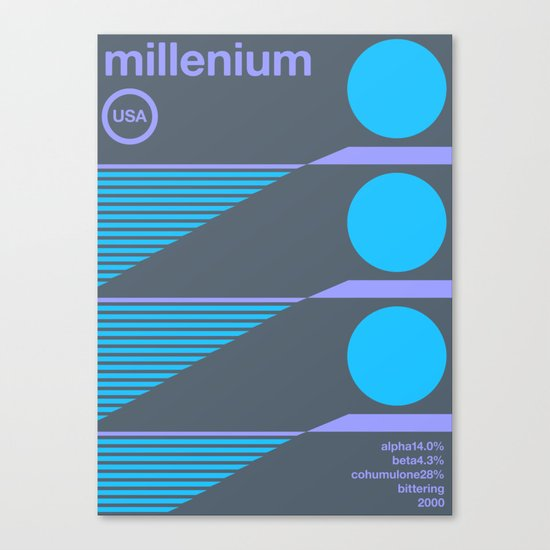 millenium single hop Canvas Print