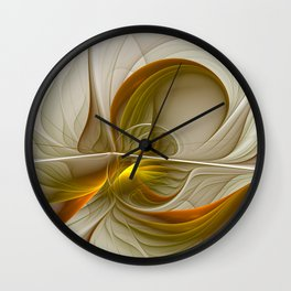 Abstract With Colors Of Precious Metals 2 Wall Clock