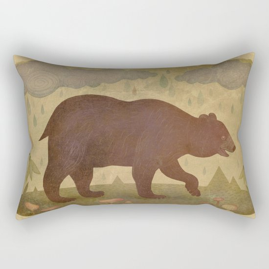 American black bear Rectangular Pillow