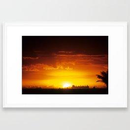 South Shore Sunset Framed Art Print