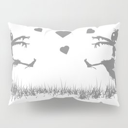 Zombies in Love Gray Pillow Sham
