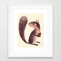 squirrel Framed Art Prints featuring Squirrel by Chuck Groenink