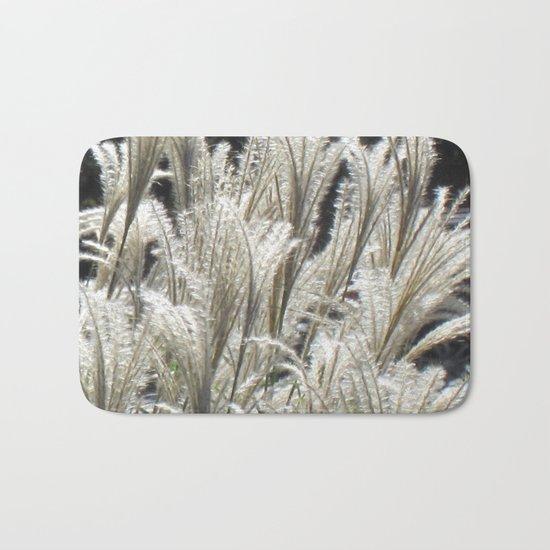 Silver Grass Plumes Bath Mat