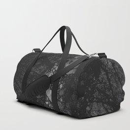 Luxury Black Marble Duffle Bag