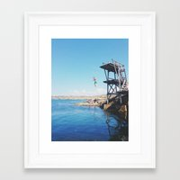 forever young Framed Art Prints featuring Forever Young by Johanna Lejon