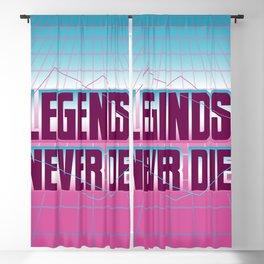 Legends Never Die Vaporwave Blackout Curtain