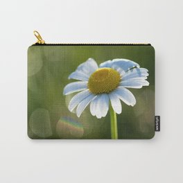 Daisy after rain at backlight Carry-All Pouch