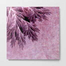 Frost in pink Metal Print