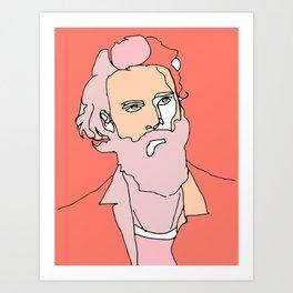 Father John Misty (alternate version) Art Print