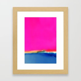 Magenta Horizon Framed Art Print