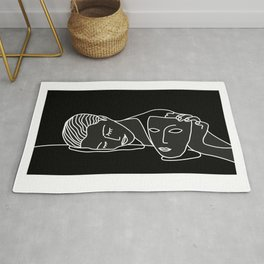 Noire et blanche - Man Ray Rug
