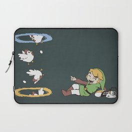 Thinking With Chickens Laptop Sleeve