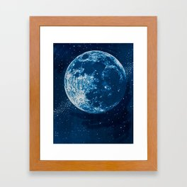 Big Blue Moon Framed Art Print