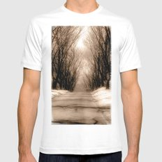 Country Lane White MEDIUM Mens Fitted Tee