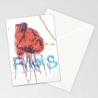 Bleeding Heart Graffiti Stationery Cards